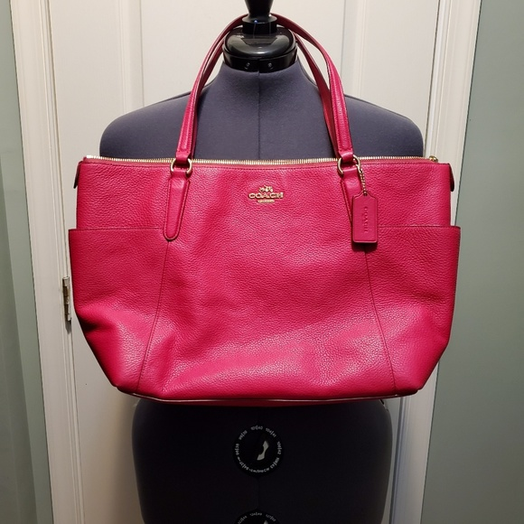 Coach Handbags - Coach Leather Pink with gold hardware